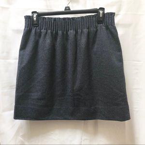 NWT J. Crew Herringbone Gray Navy Skirt